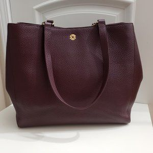 Dagne Dover Large Oxblood Allyn Business Tote
